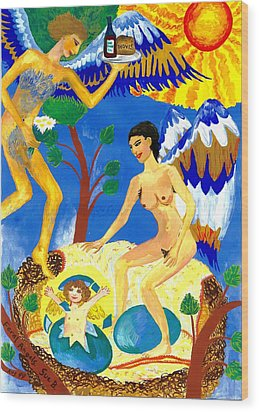 Feral Angels Wood Print by Sushila Burgess