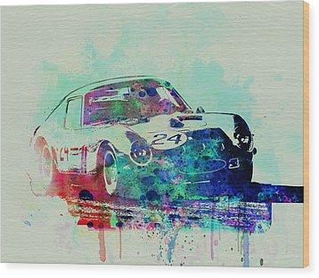 Ferrari 250 Gtb Racing Wood Print by Naxart Studio