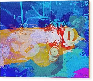 Ferrari Pit Stop Wood Print by Naxart Studio