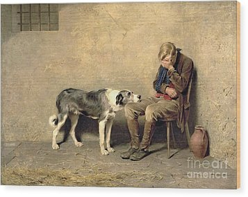 Fidelity Wood Print by Briton Riviere