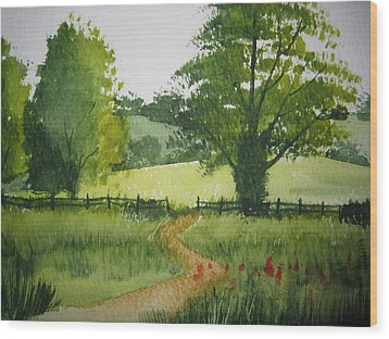 Fields Of Green Wood Print by Shirley Braithwaite Hunt