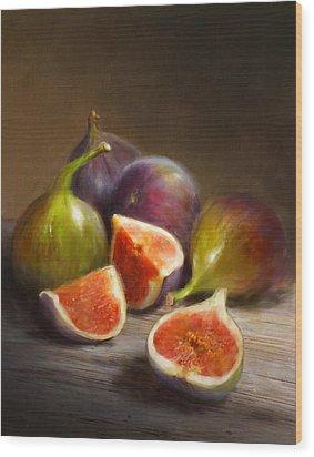 Figs Wood Print by Robert Papp