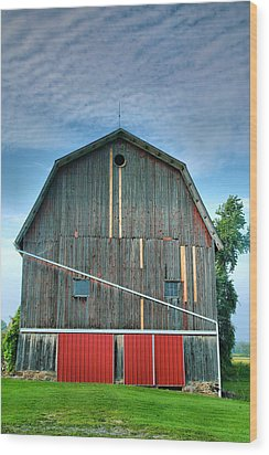 Finger Lakes Barn Iv Wood Print by Steven Ainsworth
