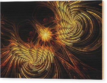 Firebird Wood Print by John Edwards