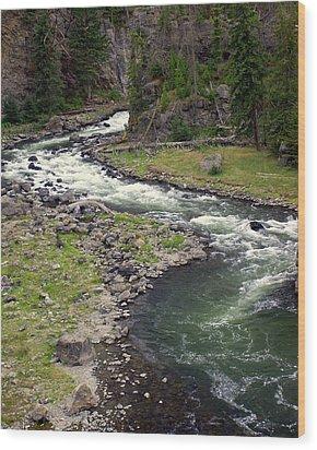 Firehole River 2 Wood Print by Marty Koch