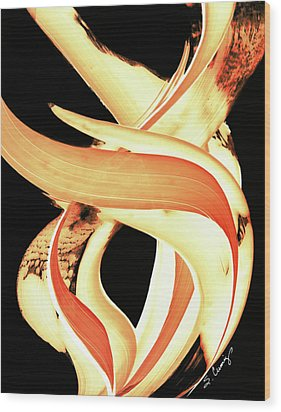 Firewater 3 Wood Print by Sharon Cummings