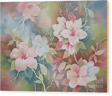 First Blush Wood Print by Deborah Ronglien