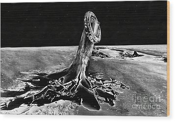 First Men On The Moon Wood Print by David Lee Thompson