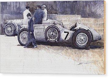 First Met Up Talbot Lago Le Mans 1950 Wood Print by Yuriy  Shevchuk