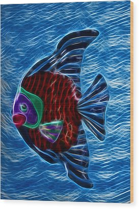 Fish In Water Wood Print by Shane Bechler