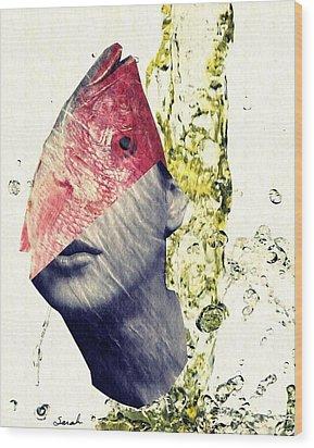 Fishhead Wood Print by Sarah Loft