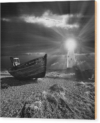 Fishing Boat Graveyard 7 Wood Print by Meirion Matthias