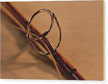 Fishing Pole Ring Wood Print by Wilma  Birdwell