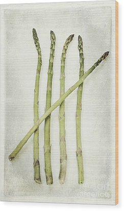 Five Wood Print by Priska Wettstein