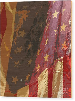 Flag 16 Wood Print by Gary Everson