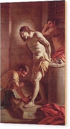 Flagellation Of Christ Wood Print by Pietro Bardellini
