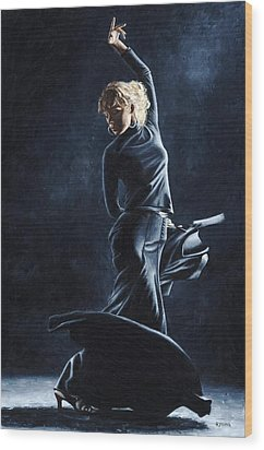 Flamenco Dexterity Wood Print by Richard Young