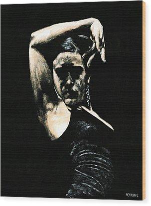 Flamenco Soul Wood Print by Richard Young
