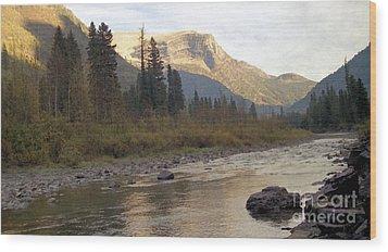 Flathead River Wood Print by Richard Rizzo