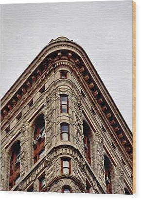 Flatiron Building Detail Wood Print by Sandy Taylor