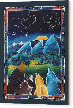 Flatirons Stargazing Wood Print by Harriet Peck Taylor