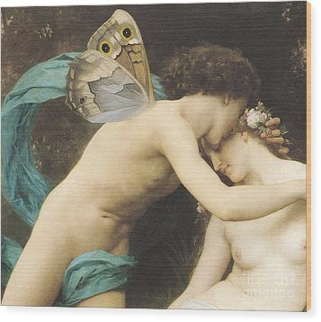 Flora And Zephyr Wood Print by William Adolphe Bouguereau