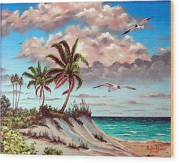 Florida Gulf Dune Wood Print by Riley Geddings