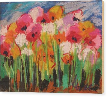 Flowers Wood Print by John Williams