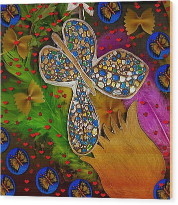 Fly With Me In Love Wood Print by Pepita Selles