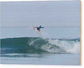 Wood Print featuring the photograph Flying In A Blue Dream II by Thierry Bouriat