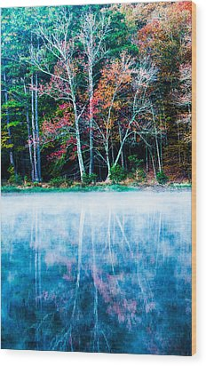 Fog On The Lake Wood Print by Parker Cunningham