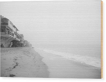 foggy Malibu Beach  Wood Print by Ralf Kaiser
