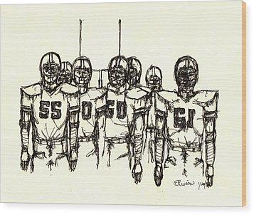 Football Nasties Wood Print by Brett H Runion