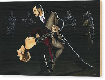 For The Love Of Tango Wood Print by Richard Young