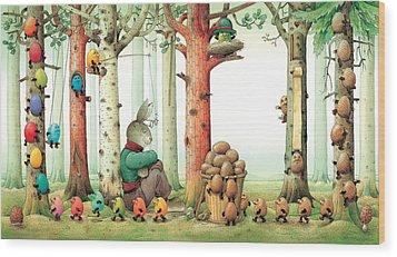 Forest Eggs Wood Print by Kestutis Kasparavicius