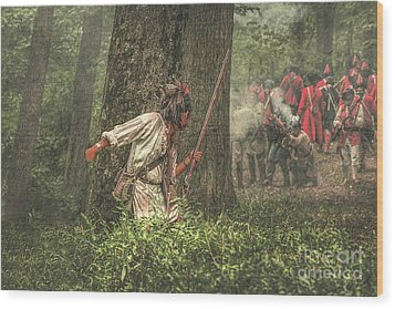 Forest Fight Wood Print by Randy Steele