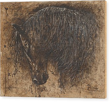 Forgiven Wood Print by Paula Collewijn -  The Art of Horses