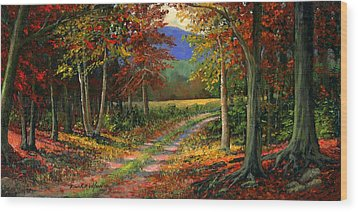 Forgotten Road Wood Print by Frank Wilson