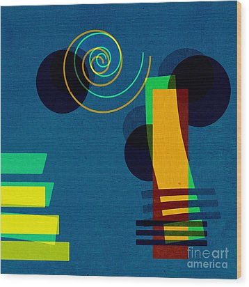 Formes - 03b Wood Print by Variance Collections