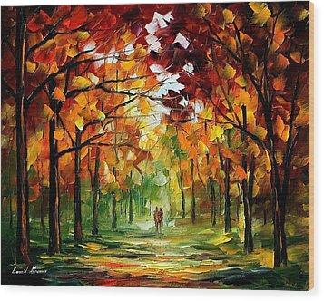 Forrest Of Dreams Wood Print by Leonid Afremov