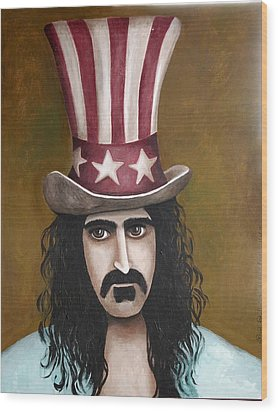 Franks Hat Wood Print by Leah Saulnier The Painting Maniac