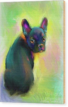 French Bulldog Painting 4 Wood Print by Svetlana Novikova
