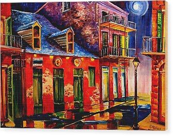 French Quarter Dazzle Wood Print by Diane Millsap