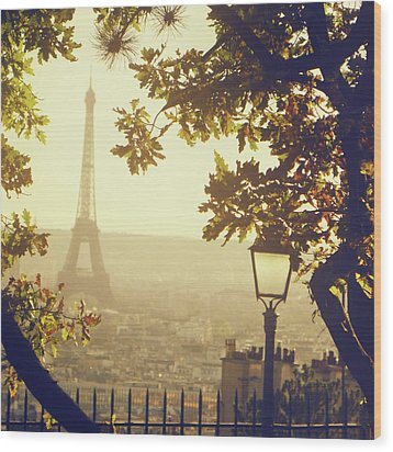 French Romance Wood Print by by Smaranda Madalina Cheregi