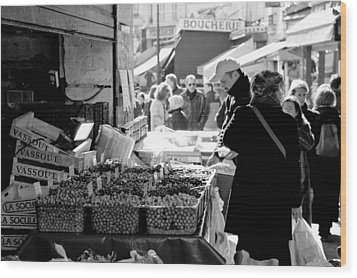 French Street Market Wood Print by Sebastian Musial