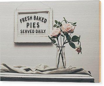 Fresh Baked Wood Print by Kim Hojnacki