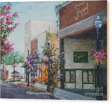 Front Street Wood Print by Virginia Potter