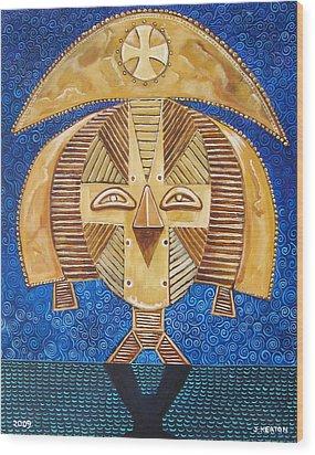 Gabon Mask - A Multi-cultural Celebration Wood Print by John Keaton