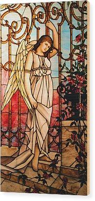 Garden Angel Wood Print by Kristin Elmquist
