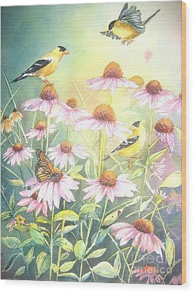 Garden Party Wood Print by Patricia Pushaw